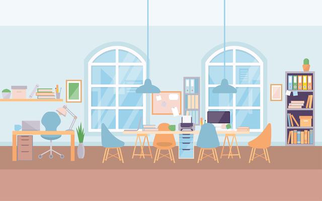 ライターのオフィス風景
