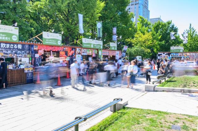 大学祭、学園祭の模擬店のイメージ