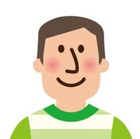 緑のシャツを着た男子大学生